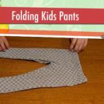 Child Proof Folding: Kids Pants