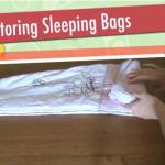 Folding: Storing Baby Sleeping Bags
