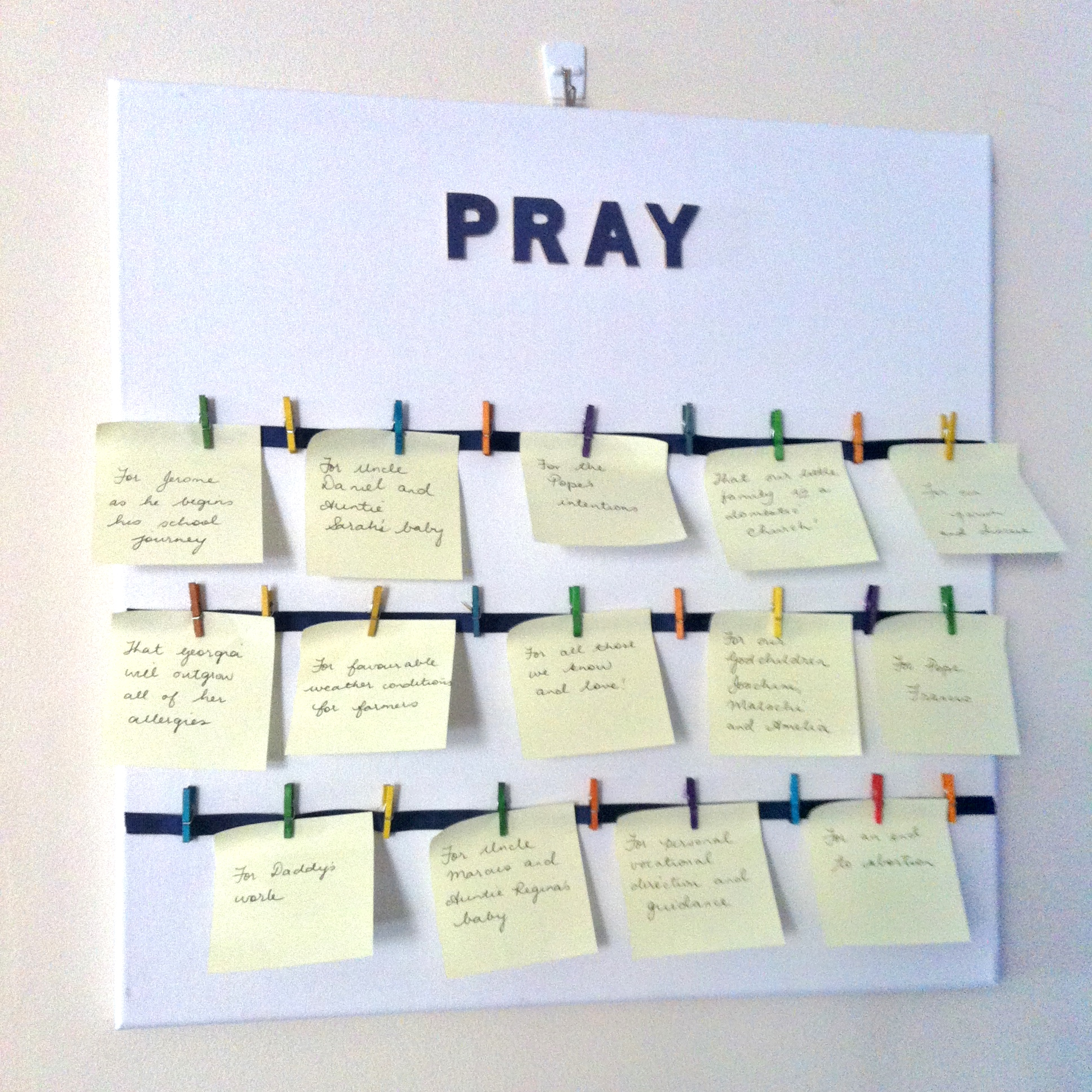 make a prayer intention canvas