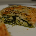Easy Egg, Spinach & Chicken Pie