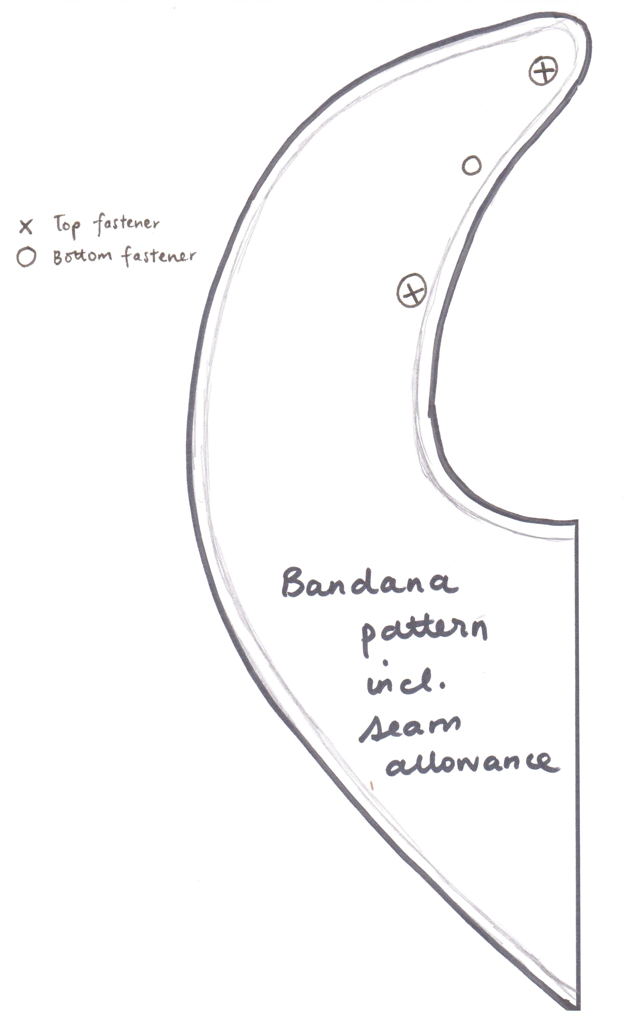 Coordinating Thread Bandana Pattern Bandanna Bib Eshaw