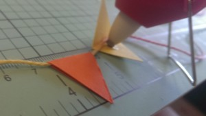 gluing bunting