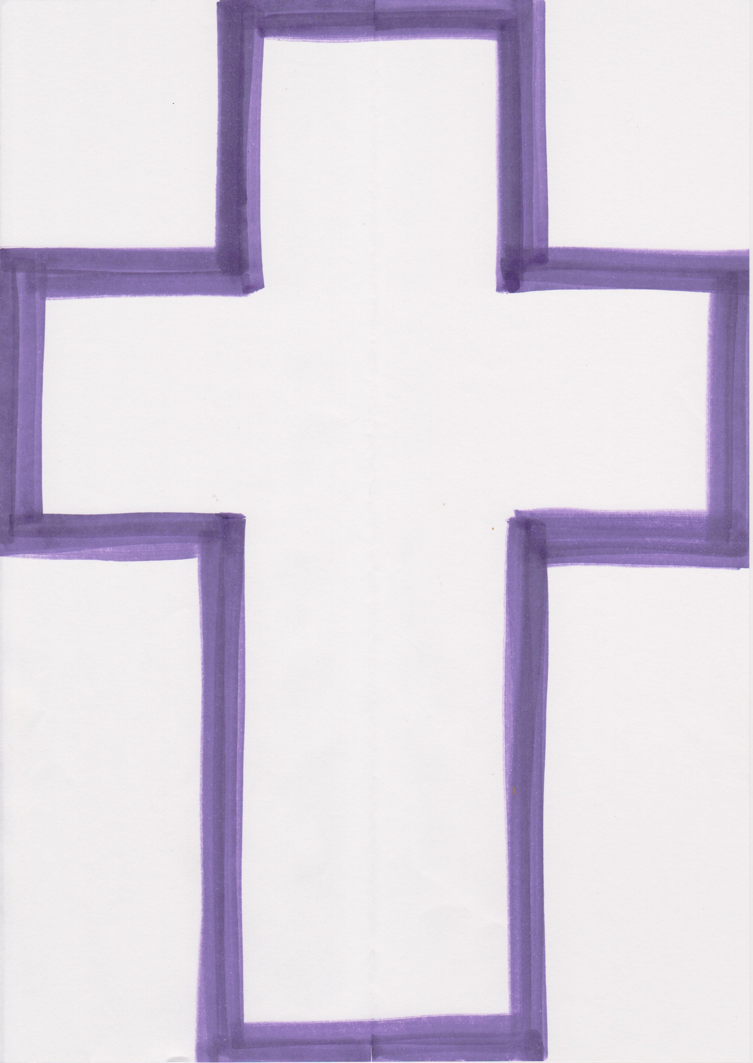 ... cross (preferably on a window) and enjoy this visual reminder of Lent