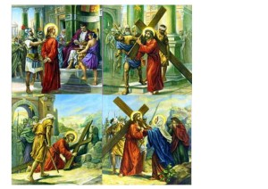 stations of the cross 1-4