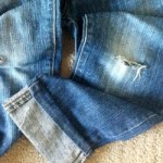 DIY No Sew Distressed Jeans