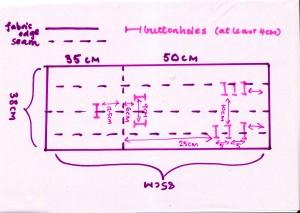 pram liner template 001