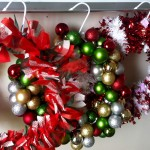 DIY Coat Hanger Christmas Wreath