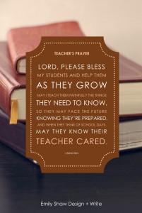 Diy Teacher S Prayer Gift Young Catholic Mums Young
