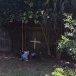 Simple Garden Prayer Space