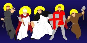 superhero saints combined colour blue