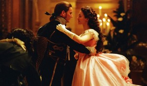 Still from The Phantom of the Opera 2004 film starring Emmy Rossum and Gerard Butler.